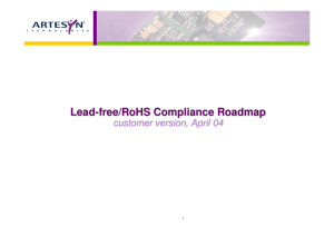 Lead-free/RoHS Compliance Roadmap