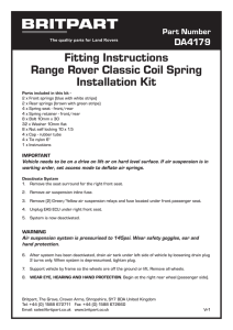 Fitting Instructions Range Rover Classic Coil