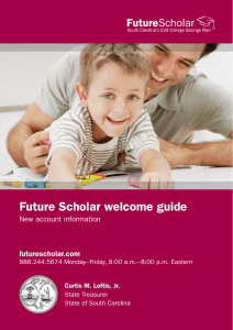 Future Scholar welcome guide - Columbia Threadneedle Investments