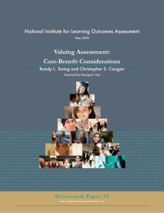 Valuing Assessment: Cost-Benefit Considerations