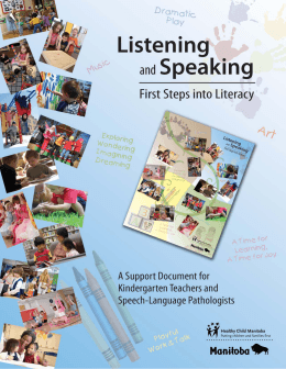 speaking and listening research paper