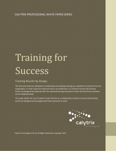 Training for Success - Calytrix Technologies