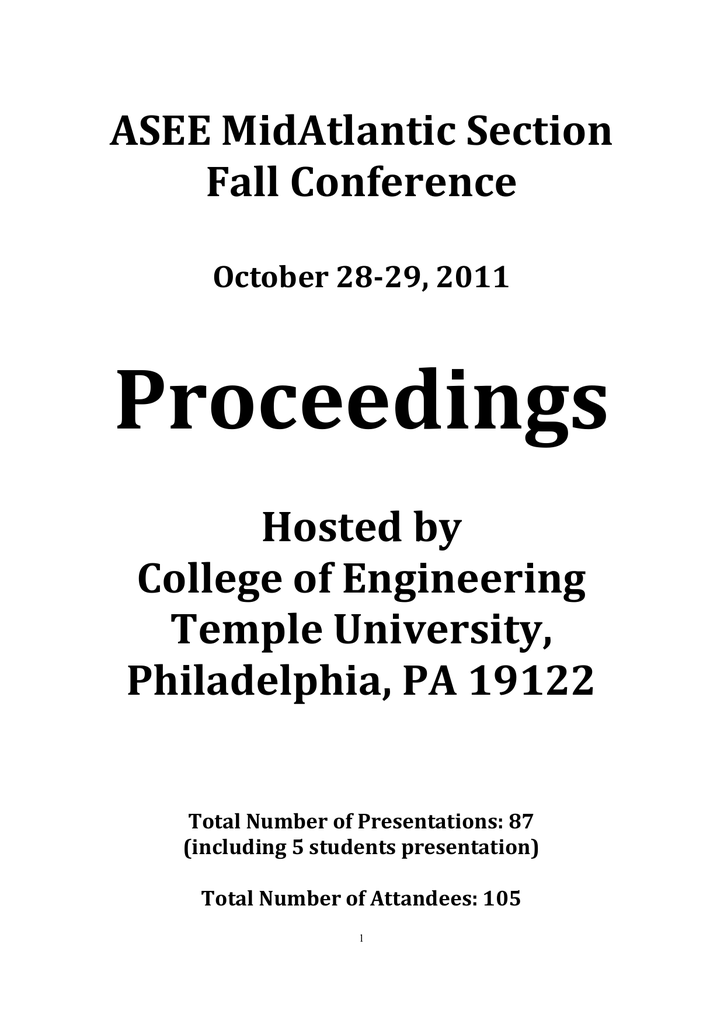 Fall 2011 - American Society for Engineering Education