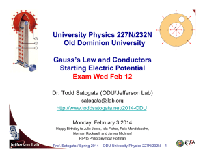University Physics 227N/232N Old Dominion University Gauss`s