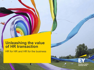 Unleashing the value of HR transaction