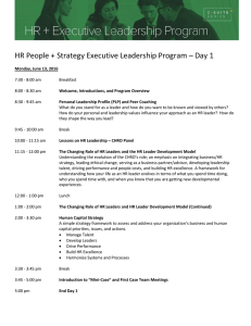HR People + Strategy Executive Leadership Program – Day 1