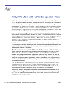 A Day in the Life of an HR Connection Specialist (Voice)