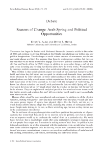 Seasons of Change: Arab Spring and Political Opportunities