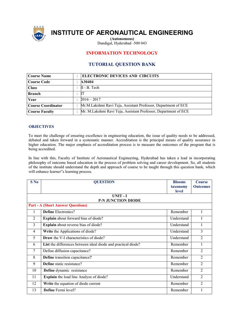 INSTITUTE OF AERONAUTICAL ENGINEERING