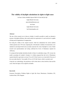 The validity of daylight calculations in rights to light cases