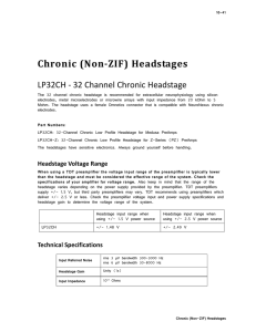 Chronic (Non-ZIF) Headstages