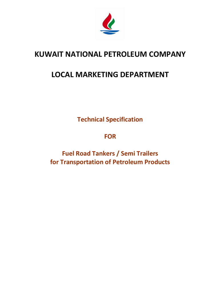 KNPC Road Tanker Specification