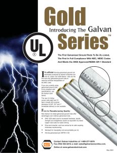 The First Galvanized Ground Rods To Be UL-Listed