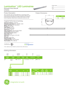 GE Lumination Recessed Fixture Retrofit LB Series — Spec Sheet