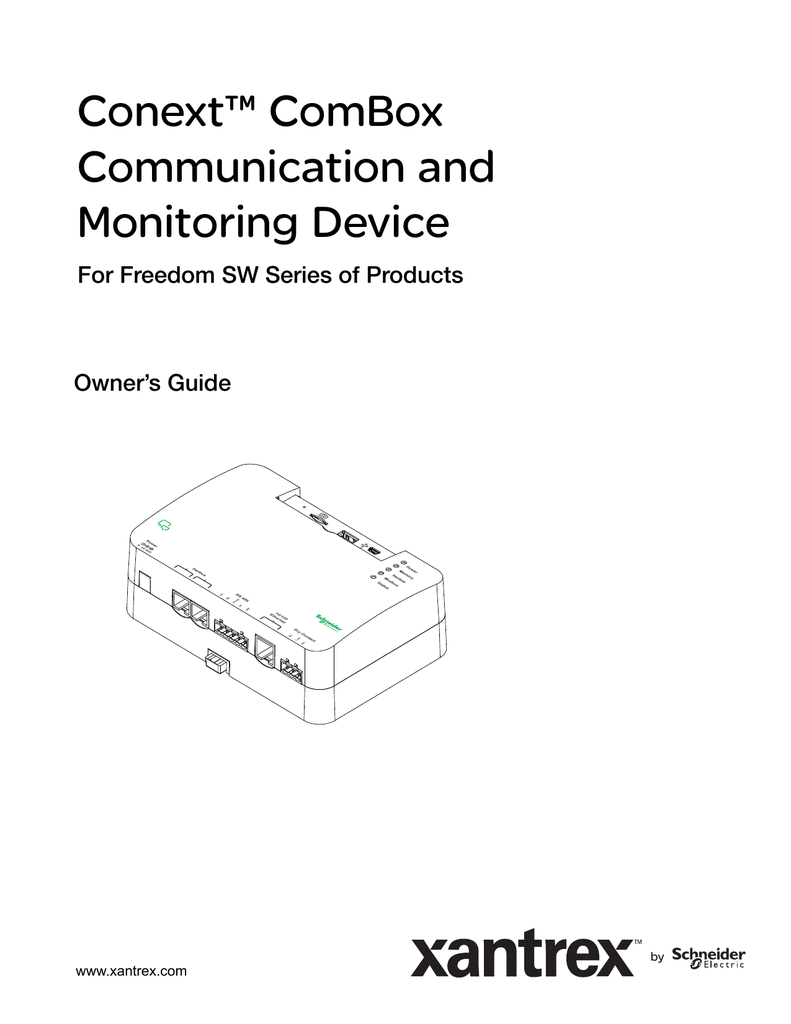 Conext™ ComBox Communication and Monitoring Device on