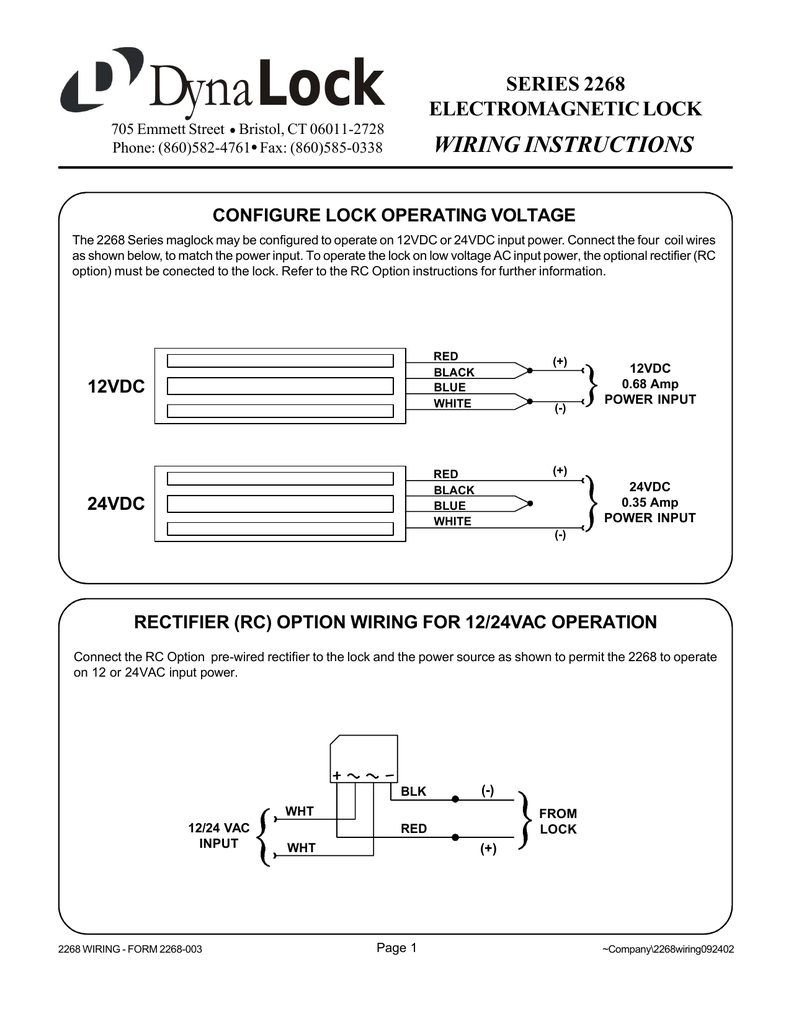 Wiring Diagram For Maglock