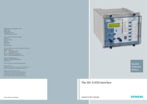 The IEC 61850 interface