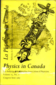 Physics in Canada