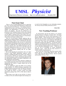 UMSL Physicist - University of Missouri