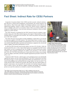 Fact Sheet: Indirect Rate for CESU Partners