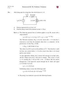Homework RC RL Problem 2 Solution