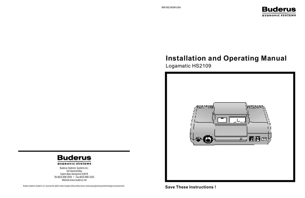 Fabulous Installation And Operating Manual Wiring Cloud Brecesaoduqqnet