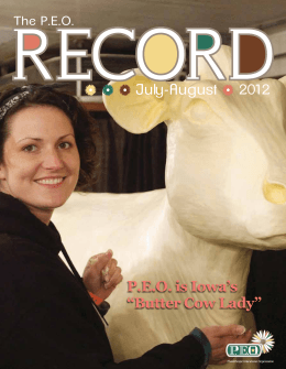"July-August P.E.O. is Iowa`s ""Butter Cow Lady"""