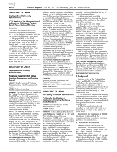 Federal Register/Vol. 80, No. 146/Thursday, July 30, 2015/Notices