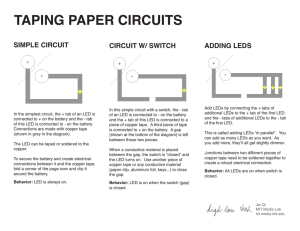 taping paper circuits - High