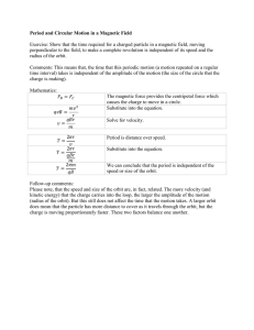 Period and Circular Motion in a Magnetic Field Exercise: Show that