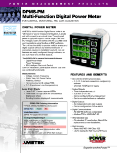 Ametek DPMS-PM Digital Power Meter