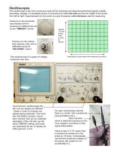 Oscilloscopes info