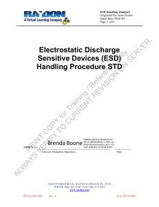 Electrostatic Discharge Sensitive Devices