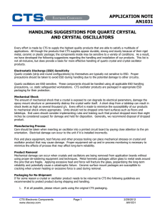 application note an1031 handling suggestions for quartz