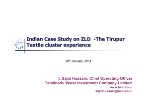 Indian Case Study on ZLD Indian Case Study on ZLD