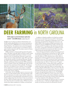 DEER FARMING in NORTH CAROLINA
