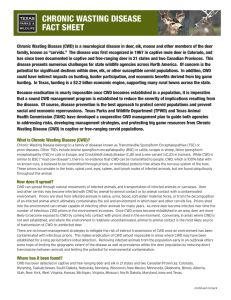 chronic wasting disease fact sheet - MultiBriefs - MultiBriefs