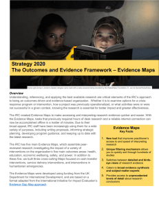 Resource: Strategy 2020: the outcomes and evidence framework