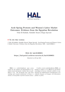 arab spring protests and women`s labor market outcomes: evidence