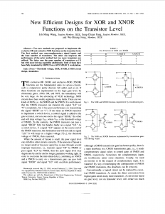New efficient designs for XOR and XNOR functions on the transistor