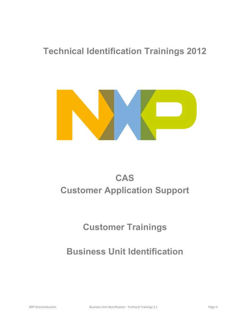 CAS Customer Application Support Customer Trainings