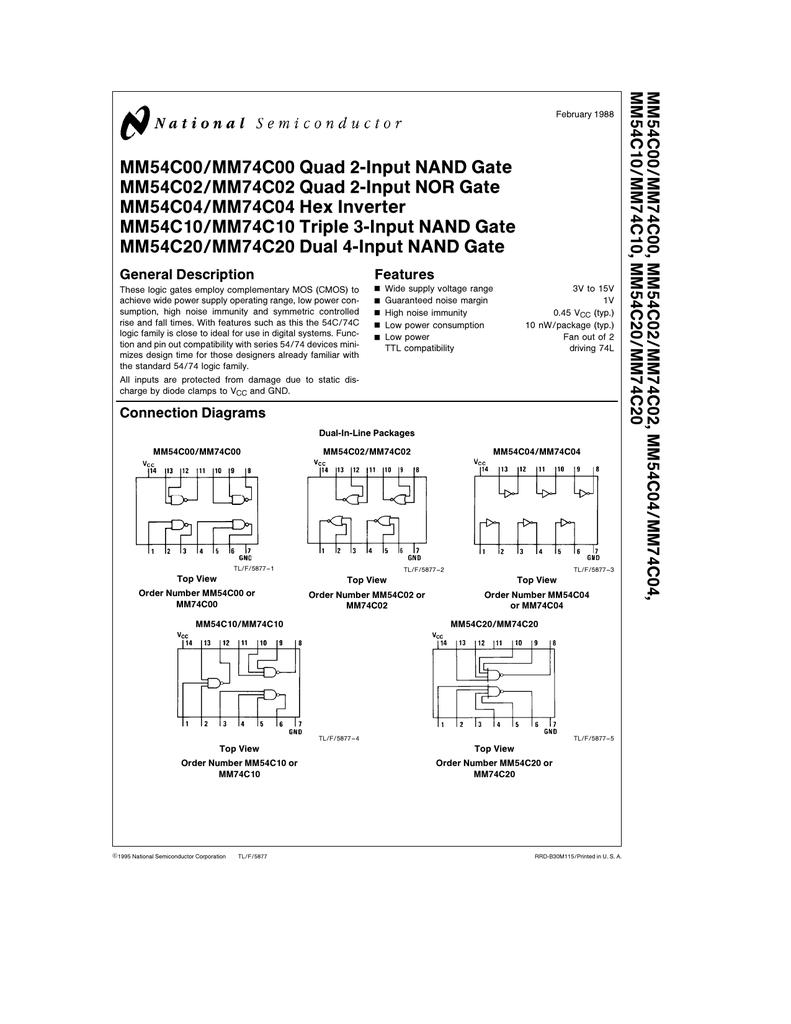 Nand Inverter Circuit Diagram Mm Quad Input Gate 791x1024