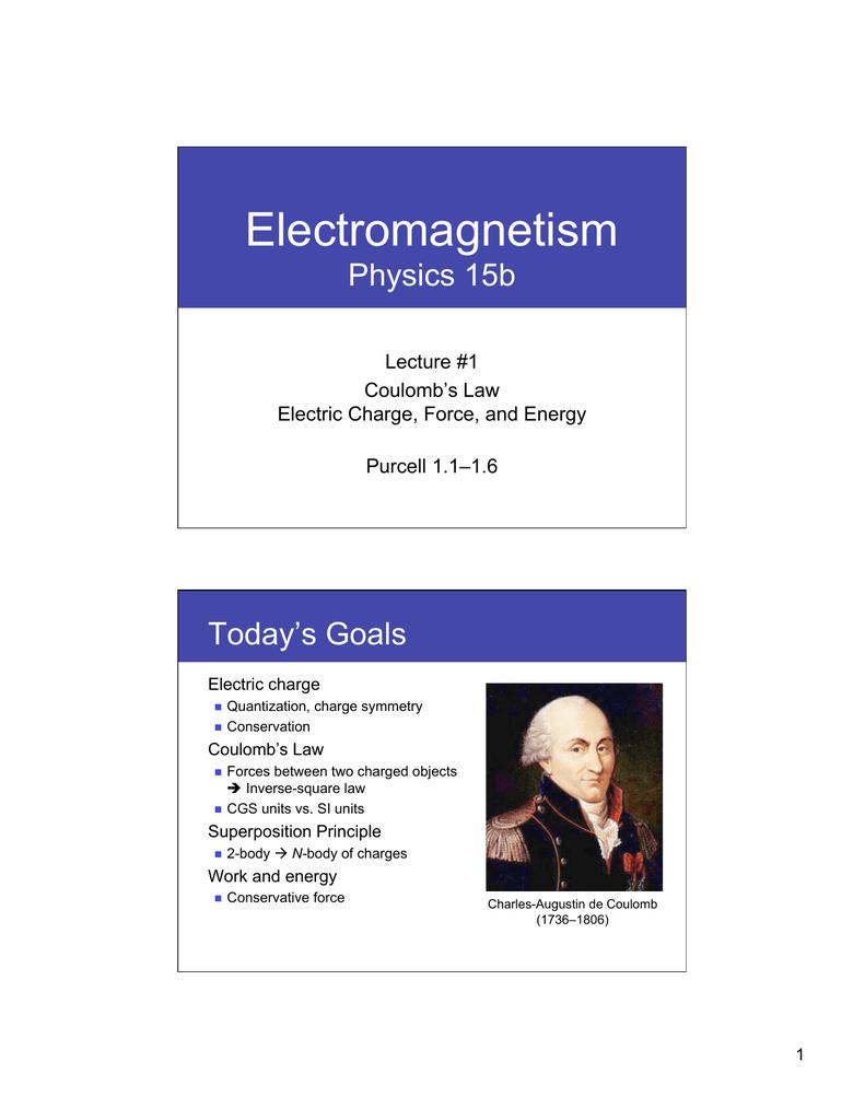 Electromagnetism - Harvard University Department of Physics