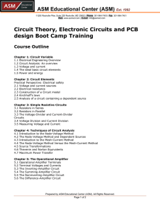 ASM Educational Center (ASM) Est. 1992 Circuit Theory, Electronic