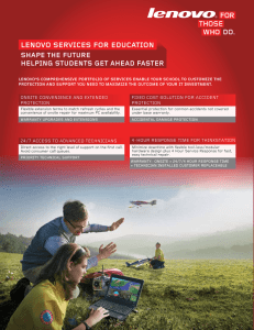 lenOVO serVices fOr educatiOn