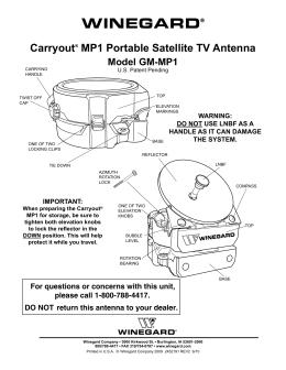 Sensar 174 Rv Tv Antenna Replacement Parts