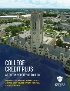 College Credit Plus - University of Toledo