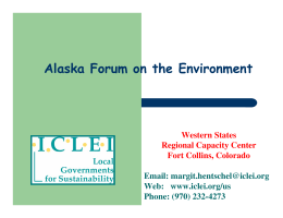 ICLEI and the CCP Campaign - Alaska Native Science Commission