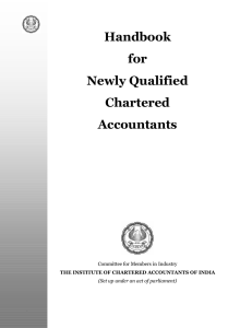 Handbook for Newly Qualified Chartered Accountants