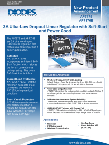 New Product 3A Ultra-Low Dropout Linear Regulator with Soft